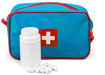 Medication isolated on white