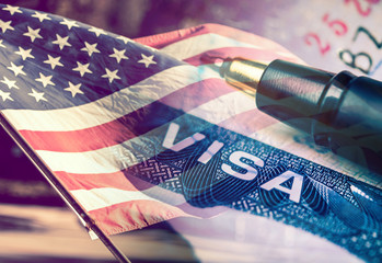 United States of America Visa Document Concept Fototapete