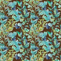 Watercolor beautiful floral pattern