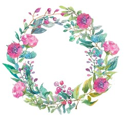 Watercolor beautiful floral design