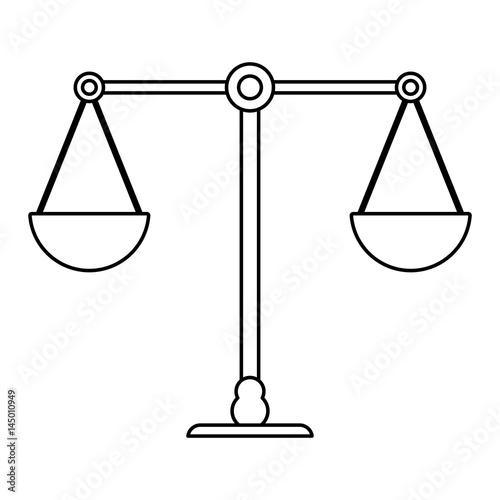Weight Scale Coloring Pages - Balance-scale-coloring-page