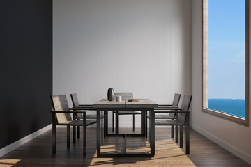 simple dining sea view