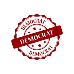 Democrat red stamp illustration