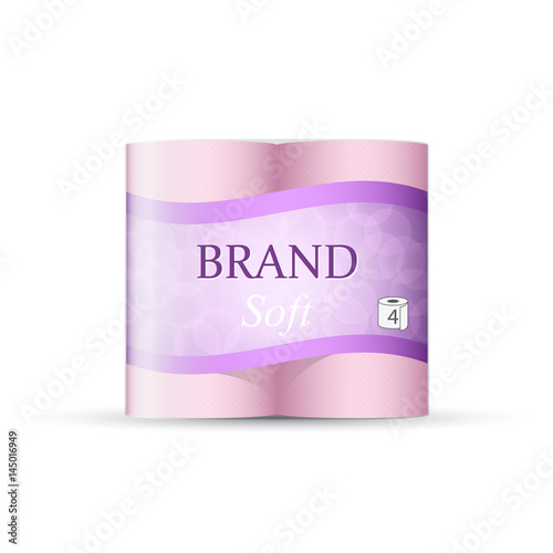 toilet paper packaging design vector template of paper towel