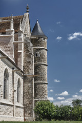 Gothic church in Rumilly-les-Vaudes, France .