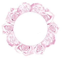 Obraz Różowa ramka - fototapety do salonu