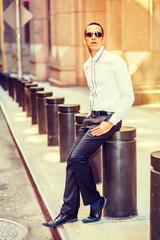 American Man Street Fashion in New York