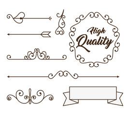 elegant frame style retro vector illustration design