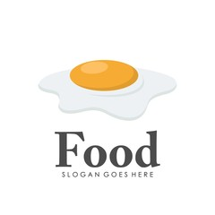 Chicken egg yolk logo design
