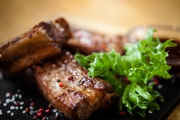 Pork breast on rib