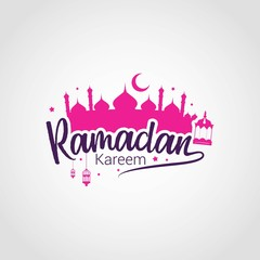 Ramadan Kareem Design Vector. Suitable for Greeting Card, Poster and Banner