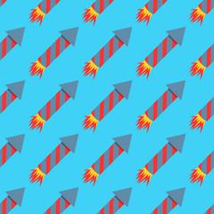 Fireworks rocket seamless pattern vector illustration petard pyrotechnics