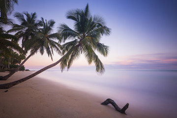 Beautiful long exposure sunset at a tropical beach