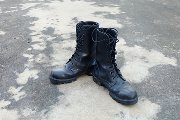 Pair of Black old Army Working Boots Great for Any Use.