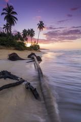 Beautiful sunset at a tropical beach
