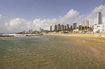 The meddle beach - urban beach in Natal, RN, Brazil