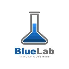 unique and creative logo lab innovation vector