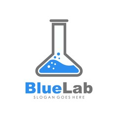 unique and creative logo lab innovation vector