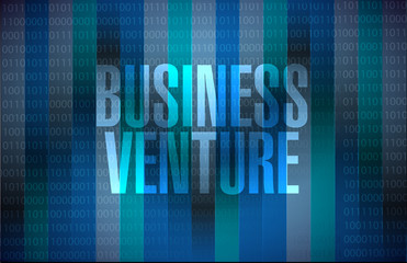 business venture binary sign concept