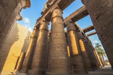 Hieroglyphs at Karnak Temple, Luxor, Egypt