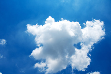 cloud and blue sky at sunny day.