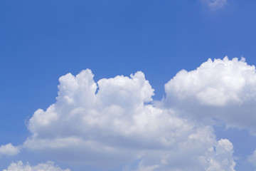 Clear sky and clouds