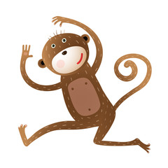 Funny Monkey animal cartoon