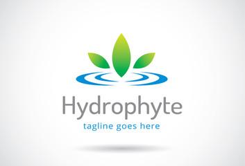 Water Plant Logo Template Design Vector, Emblem, Design Concept, Creative Symbol, Icon