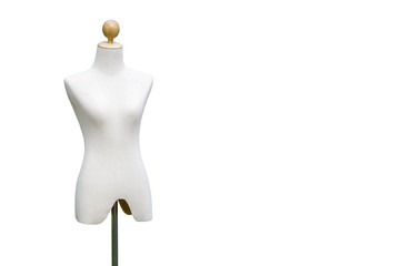 woman and kid mannequins isloated with white background