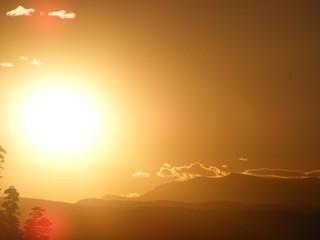 Large Sun Sunset