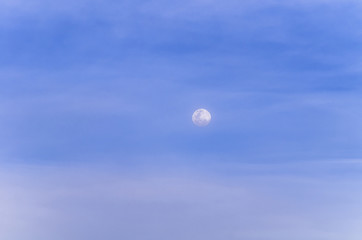 background of blue sky with the moon