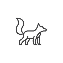Fox line icon, outline vector sign, linear style pictogram isolated on white. Symbol, logo illustration. Editable stroke. Pixel perfect