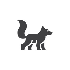 Fox icon vector, filled flat sign, solid pictogram isolated on white. Symbol, logo illustration. Pixel perfect