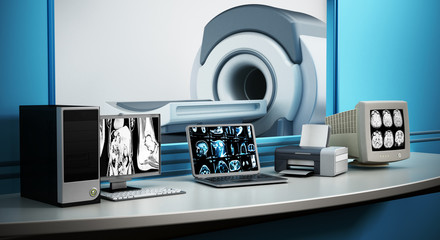 Magnetic Resonance Imaging MRI device and computer systems