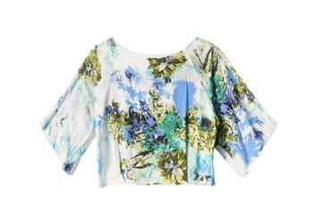 Silk blouse isolated