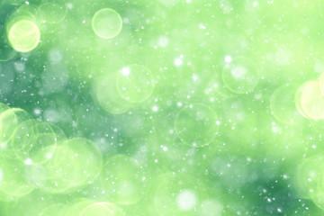 Green background bokeh blurred glare rain