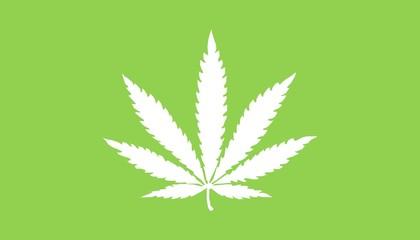 Illustration of marijuana leaves
