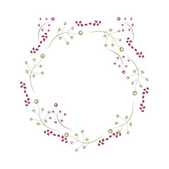 wreath. Perfect for invitations, greeting cards, quotes, blogs, Wedding Frames, posters and more,