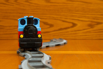 Toy train. Front view