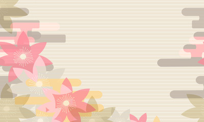 Floral background, Japanese style. Flowers on a gentle background. Floral ornament.