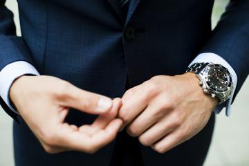 Close-up of businessman's hands