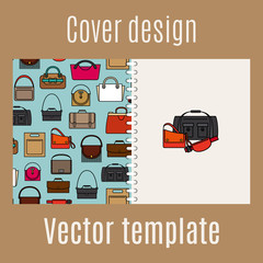 Cover design with diferent bags pattern