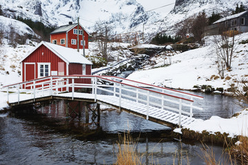 Red cabins of Nusfjord