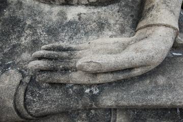Buddha statue in Wat Yai Chaimngkol Temple , Ayutthaya , Thailand
