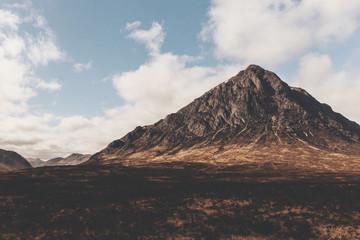 Glen Etive mountain in Glencoe Scotland. Scottish Highlands.