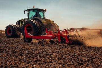 Preparing farm land