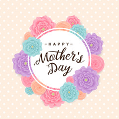 Happy mother's day background. Vector illustration.