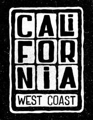 California west coast poster.