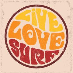 Round badgeLive Love Surf.