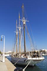 Three-masted sailboat